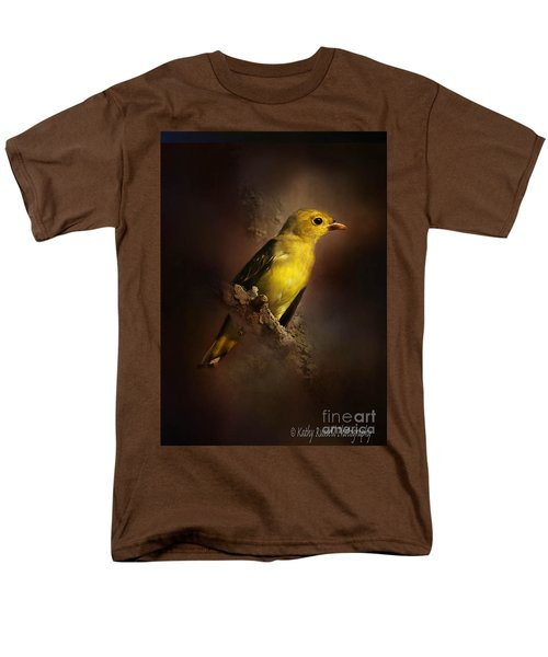 Scarlet Tanager Men's T-Shirt  (Regular Fit) by Kathy Russell