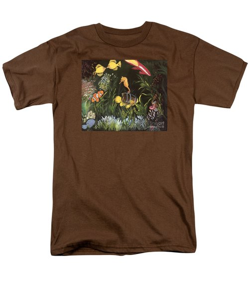Men's T-Shirt  (Regular Fit) featuring the painting Sea Harmony by Carol Sweetwood