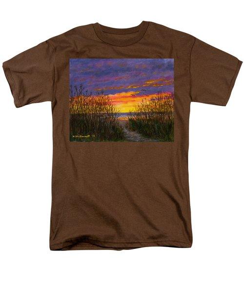 Men's T-Shirt  (Regular Fit) featuring the painting Sea Oat Sunrise # 2 by Kathleen McDermott