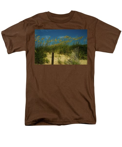 Men's T-Shirt  (Regular Fit) featuring the photograph Sea Oats And Sand Fence by John Harding