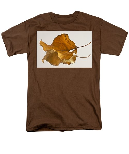 Seeing Double Autumn Leaf  Men's T-Shirt  (Regular Fit) by Sandra Foster