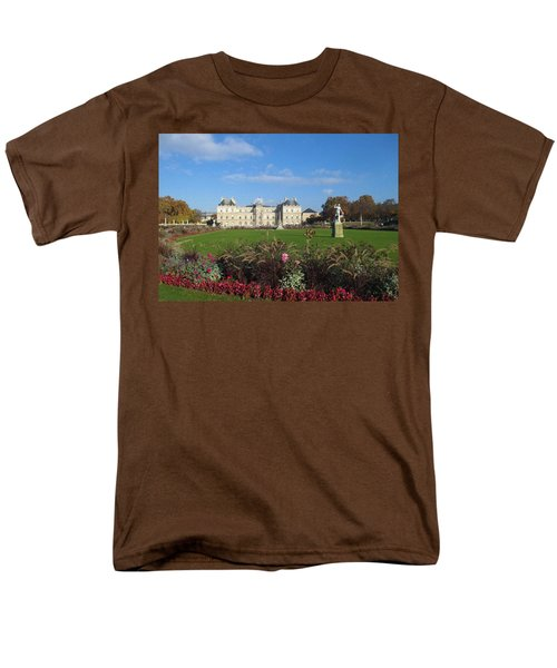 Men's T-Shirt  (Regular Fit) featuring the photograph Senate From Jardin Du Luxembourg by Christopher Kirby