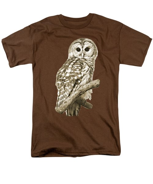 Sepia Owl Men's T-Shirt  (Regular Fit) by Christina Rollo