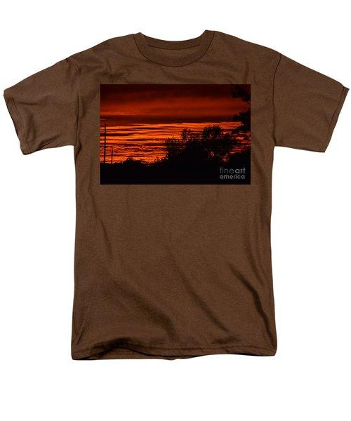 Men's T-Shirt  (Regular Fit) featuring the photograph September Kansas Sunset by Mark McReynolds
