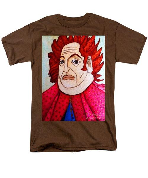 Men's T-Shirt  (Regular Fit) featuring the painting Serious Cardinal by Don Pedro De Gracia