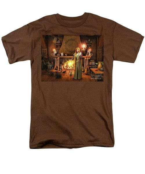 Share My Fire And Candle Light Men's T-Shirt  (Regular Fit) by Dave Luebbert