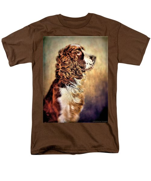 Men's T-Shirt  (Regular Fit) featuring the photograph Shiloh, English Springer Spaniel by Wallaroo Images