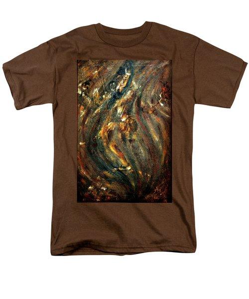 Men's T-Shirt  (Regular Fit) featuring the painting Shiva Eternal Dance by Harsh Malik