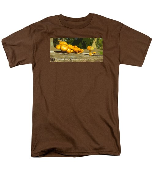 Shrooms On A Stump Men's T-Shirt  (Regular Fit) by Spyder Webb