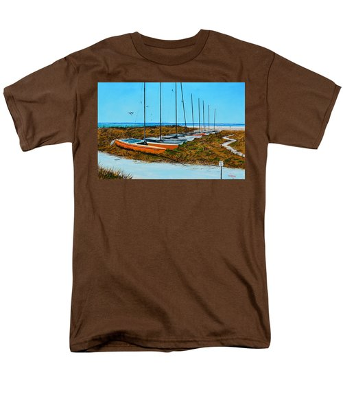 Siesta Key Access #8 Catamarans Men's T-Shirt  (Regular Fit) by Lloyd Dobson