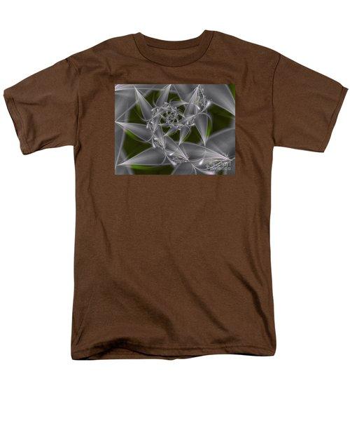 Men's T-Shirt  (Regular Fit) featuring the digital art Silverleaves by Karin Kuhlmann