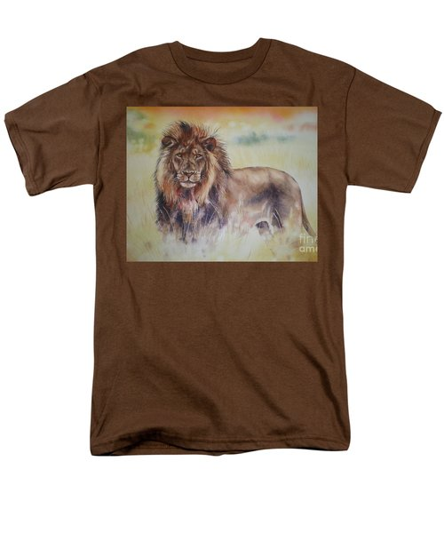 Men's T-Shirt  (Regular Fit) featuring the painting Simba by Sandra Phryce-Jones