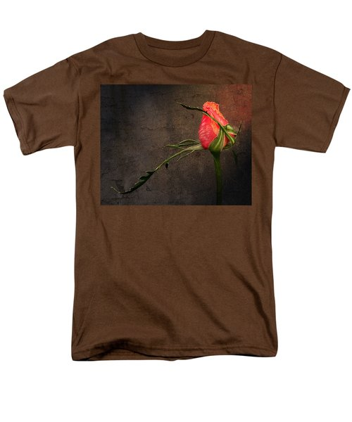 Single Rose Men's T-Shirt  (Regular Fit) by Ann Lauwers