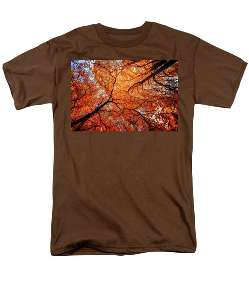 Sky Roots In Forest Red Men's T-Shirt  (Regular Fit) by John Williams
