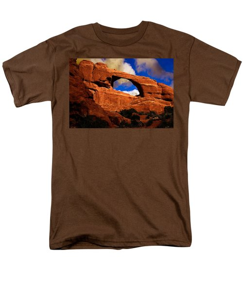 Men's T-Shirt  (Regular Fit) featuring the photograph Skyline Arch by Harry Spitz