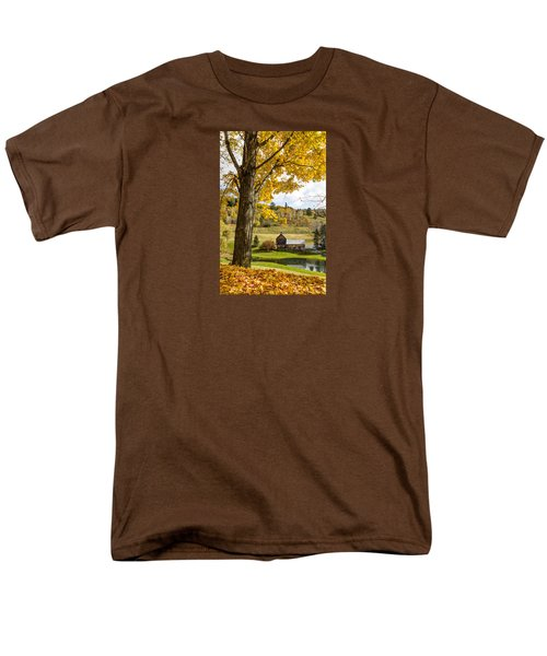 Men's T-Shirt  (Regular Fit) featuring the photograph Sleep Hollow Farm Woodstock Vt by Betty Denise