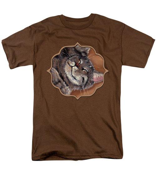 Men's T-Shirt  (Regular Fit) featuring the painting Sleepy Kitty by Anastasiya Malakhova