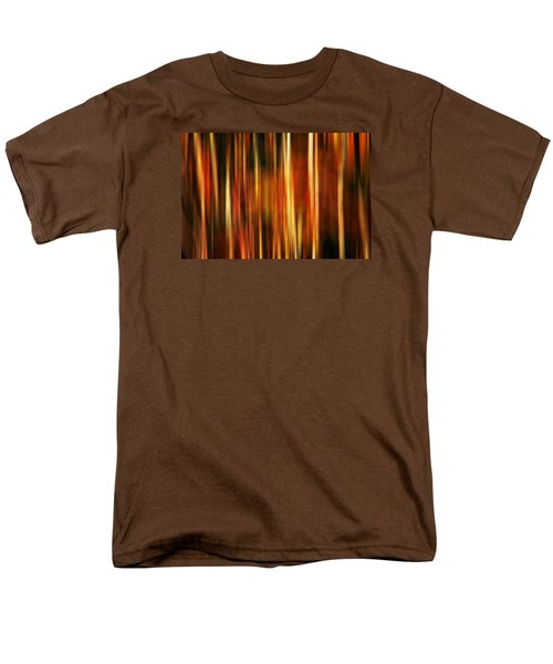 Smoky Mountains Fall Colors Digital Abstracts Motion Blur Men's T-Shirt  (Regular Fit) by Rich Franco