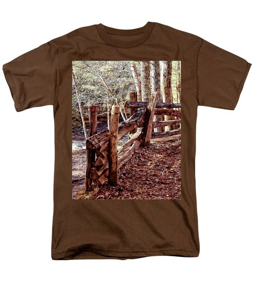 Men's T-Shirt  (Regular Fit) featuring the photograph Snake Fence by B Wayne Mullins