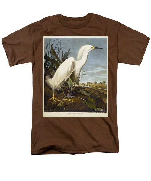 Snowy Heron Men's T-Shirt  (Regular Fit) by John James Audubon