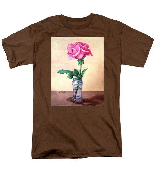 Men's T-Shirt  (Regular Fit) featuring the painting Solo Rose by Laura Aceto