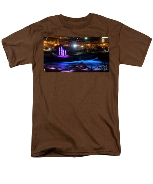 South Bend River Night Men's T-Shirt  (Regular Fit) by Brian Jones