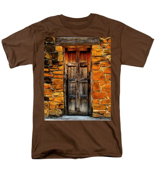 Spanish Mission Door Men's T-Shirt  (Regular Fit) by Perry Webster