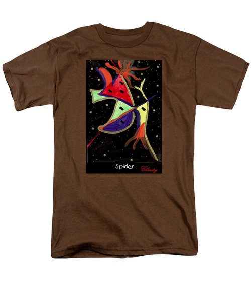 Men's T-Shirt  (Regular Fit) featuring the painting Spider by Clarity Artists