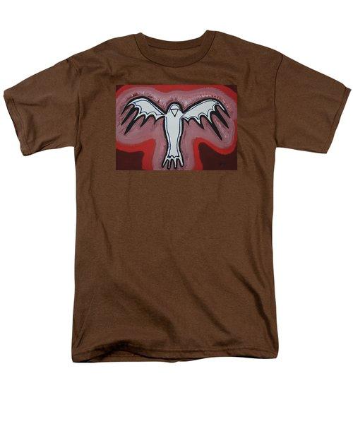 Spirit Crow Original Painting Men's T-Shirt  (Regular Fit) by Sol Luckman