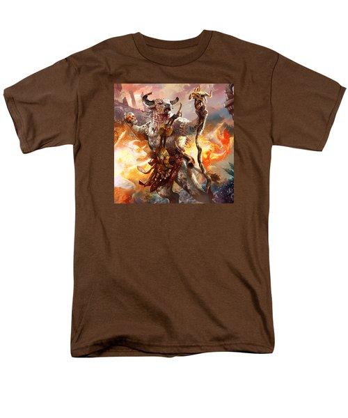 Spiritcaller Shaman Men's T-Shirt  (Regular Fit) by Ryan Barger