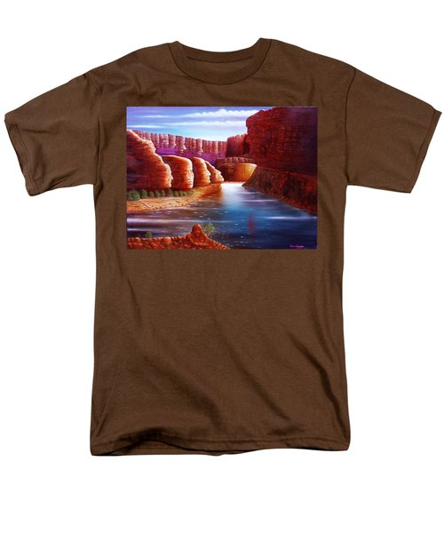 Men's T-Shirt  (Regular Fit) featuring the painting Spirits Of The River by Gene Gregory