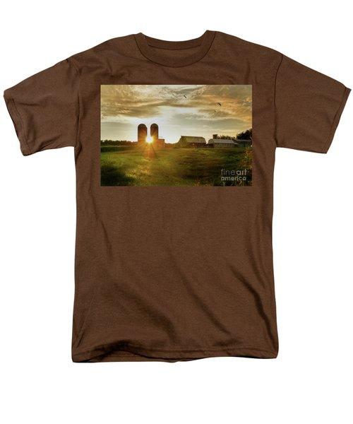 Split Silo Sunset Men's T-Shirt  (Regular Fit) by Benanne Stiens