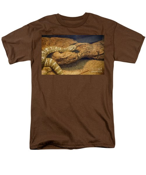 Spotted Rattlesnake   Blue Phase Men's T-Shirt  (Regular Fit) by Anne Rodkin