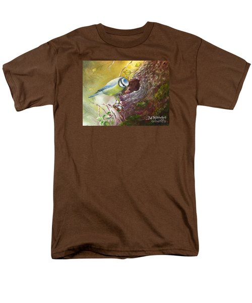 Spring Feeding Men's T-Shirt  (Regular Fit) by Patricia Schneider Mitchell