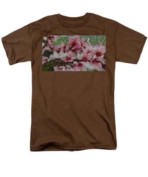 Men's T-Shirt  (Regular Fit) featuring the photograph Spring Peach Blossoms by Donna G Smith