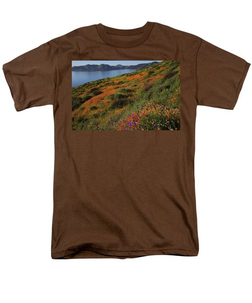 Men's T-Shirt  (Regular Fit) featuring the photograph Spring Wildflower Season At Diamond Lake In California by Jetson Nguyen