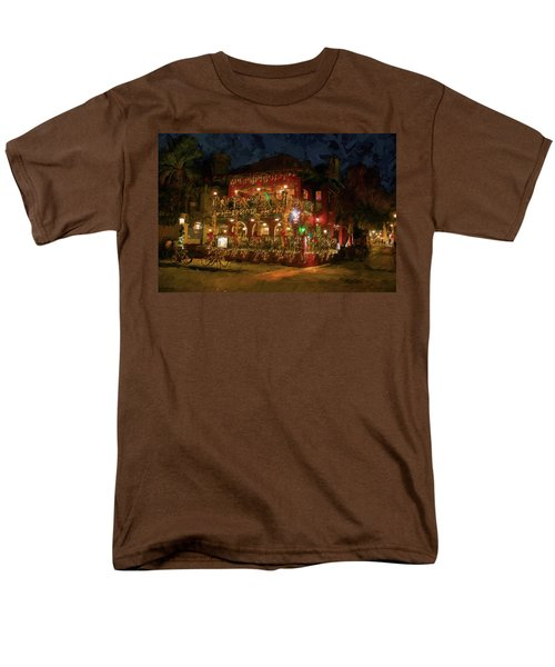 Men's T-Shirt  (Regular Fit) featuring the photograph  St. Augustine Meehan's Pub by Louis Ferreira