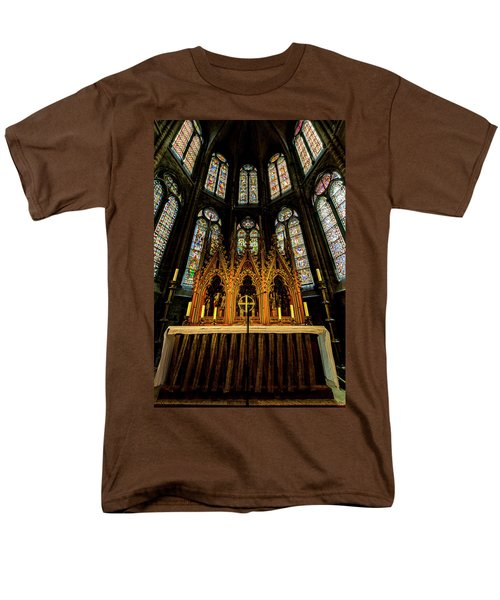 Men's T-Shirt  (Regular Fit) featuring the photograph St. Elizabeth Church by David Morefield