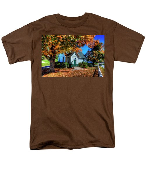 St Mary's Church Men's T-Shirt  (Regular Fit) by Dale R Carlson