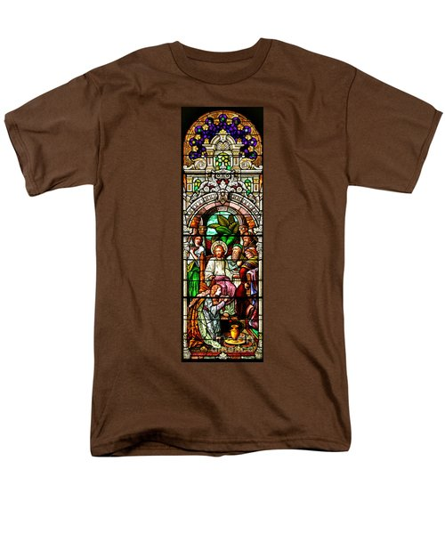 Men's T-Shirt  (Regular Fit) featuring the photograph Stained Glass Scene 11 Crop by Adam Jewell