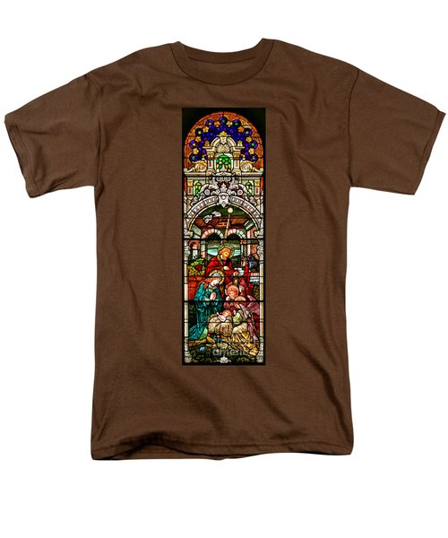 Men's T-Shirt  (Regular Fit) featuring the photograph Stained Glass Scene 4 - 2 by Adam Jewell