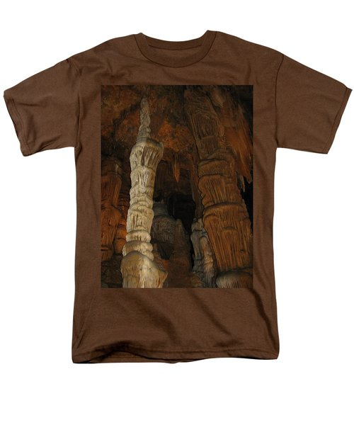 Stalacmites In Luray Caverns Va  Men's T-Shirt  (Regular Fit) by Ausra Huntington nee Paulauskaite