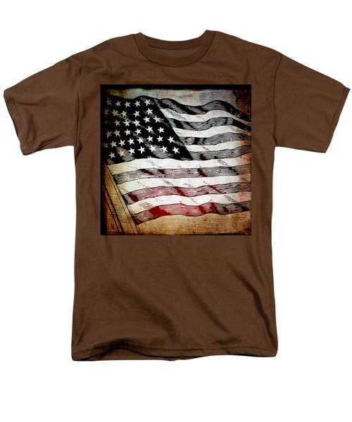 Star Spangled Banner Men's T-Shirt  (Regular Fit) by Angelina Vick