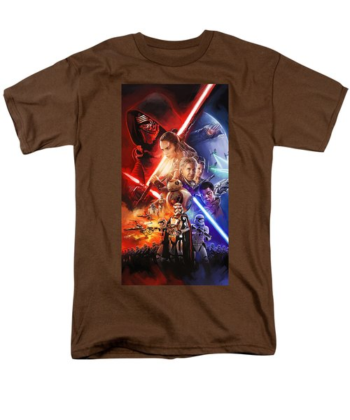 Men's T-Shirt  (Regular Fit) featuring the painting Star Wars The Force Awakens Artwork by Sheraz A