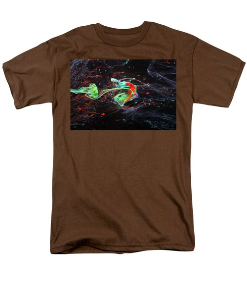 Starborn - Colorful Abstract Art Photography - Paint Pouring Men's T-Shirt  (Regular Fit) by Modern Art Prints