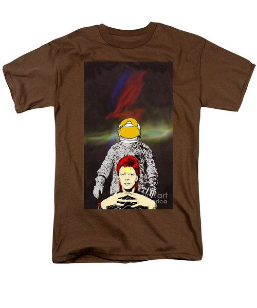 Men's T-Shirt  (Regular Fit) featuring the drawing Starman Bowie by Jason Tricktop Matthews