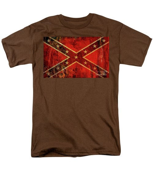 Stars And Bars Confederate Flag Men's T-Shirt  (Regular Fit) by Randy Steele