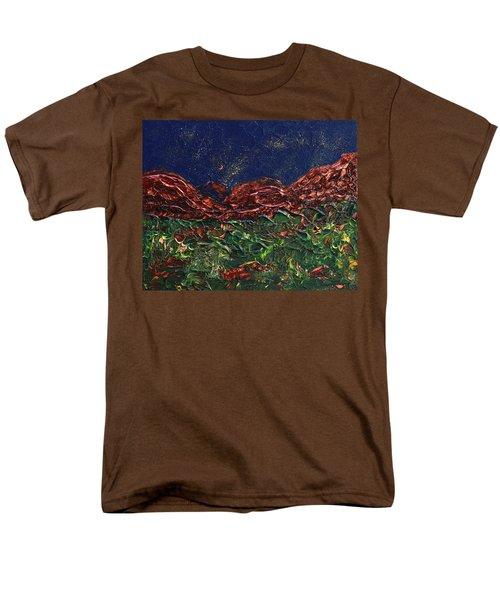 Stars Falling On Copper Moon Men's T-Shirt  (Regular Fit) by Donna Blackhall