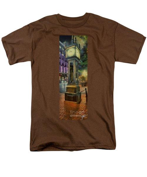 Men's T-Shirt  (Regular Fit) featuring the digital art Steam Clock Gastown by Jim  Hatch