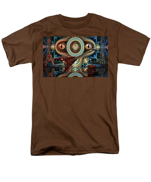 Men's T-Shirt  (Regular Fit) featuring the digital art Steampunk Guitar by Louis Ferreira
